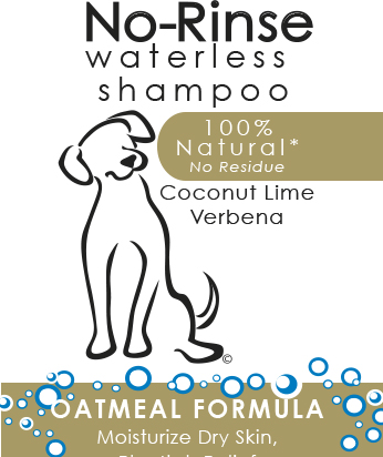 Wahl no rinse shampoo label
