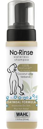 Wahl no rinse shampoo